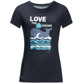 Jack Wolfskin Ocean Tee Kids night blue